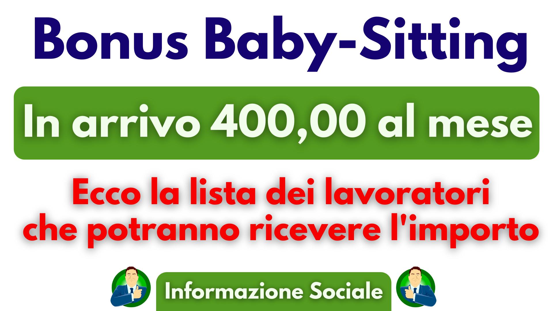 400 euro al mese |Baby-Sitting arriva il bonus: ecco chi può richiederlo.